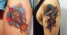 Blast Off With These Awesome Rocket Tattoos! | Tattoodo