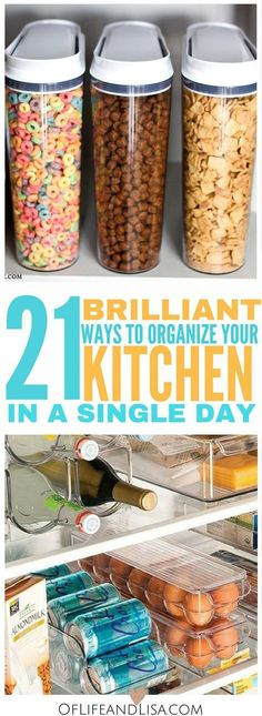 These diy kitchen organization ideas are brilliant. Check out this post to get i… These diy kitchen organization ideas are brilliant. Check out this post to get inspired on ways to declutter your kitchen. Kitchen Organization, Organization Hacks, Kitchen Storage, Organizing Ideas, Organising, School Organization, Kitchen Styling, Kitchen Pantry, Kitchen Hacks