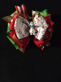 Christmas stacked bow by CinderellaBowtique on Etsy