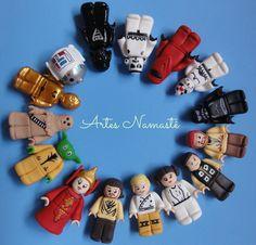 Bonecos Lego Star Wars, modelados em biscuit