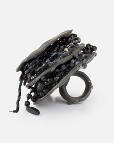 """Gluttony"" Ring - little sculpture, contemporary jewellery design; art jewelry // Seven Deadly Sins, Karl Fritsch"