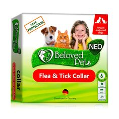 Flea and Tick Collar for Dogs and Cats - Natural Flea Treatment for Pets Kittens Puppies - Non-Allergic Repellent (Small) - nylon / Small / 1