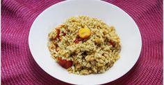 Riso con pesto di semi di zucca e pomodorini gratinati - Ricette di non solo pasticci