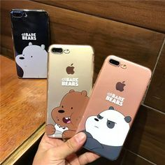 Cute Korean Cartoon Cases We Bare Bears Coque Ultra Slim Clear Soft Gel Phone Cases Cover For iPhone 7 6S 6SPlus 7Plus Fundas