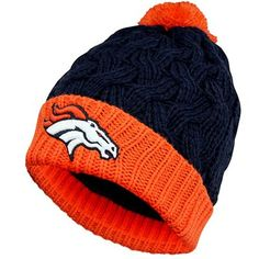 47 Brand Denver Broncos Ladies Matterhorn Cuffed Beanie - Navy Blue Orange d1ab45e02