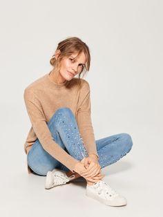 Normcore, Skinny Jeans, Fashion, Pearl, Skinny Fit Jeans, Moda, Fashion Styles, Fashion Illustrations, Fashion Models