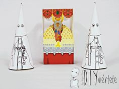 DIY-recortables-manualidades-niños-semana santa-pascua-palio-virgen-hermandad-capuchos-capuchinos-1