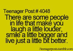I wanna be one of those people that make you smile a little bigger. And be around those people.
