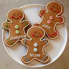 Personalized Giant Gingerbread Man Cookies #williamssonoma