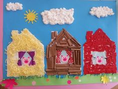 Farm animal craft farm animal crafts for preschoolers farm animals craft idea for preschoolers preschool crafts . Farm Animals Preschool, Farm Animal Crafts, Pig Crafts, Preschool Arts And Crafts, Book Crafts, Crafts For Kids, 3 Little Pigs Activities, Fairy Tale Activities, Preschool Activities
