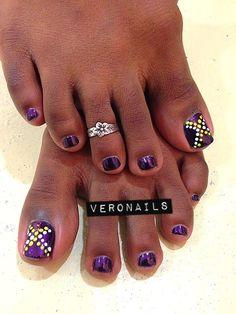 Veronails : Dotting Nail Art Pedi