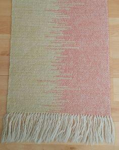 Hand Woven Rug - Yellow and orange £45.00 - Agnis Smallwood