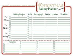Have an Organized Christmas with a FREE Planner | Christmas ...