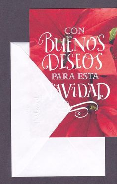 Details About Spanish Christmas Greeting Card My Wishes For You At