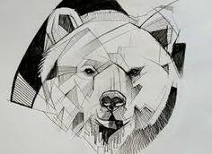 Bildergebnis für geometric animals bear