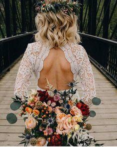 gorgeous boho bouquet