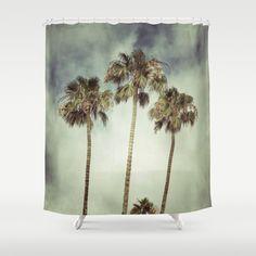 Tropic Storm Shower Curtain by RichCaspian - $68.00 #showercurtain #shower #curtain #homedecor #bathroom #palmtrees #beachy #paradise #bathtub #tropical