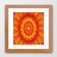 Kaoscopes Framed Art Print  art by Andrew Hunter
