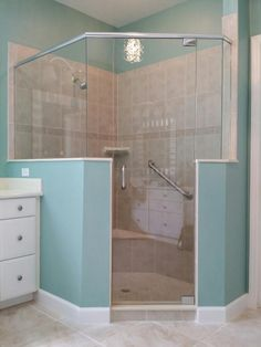 Frameless Shower doors of all kinds including Tub Enclosures, Sliders of all kinds, Mirror work such as beveled, vanity, mirrored walls, Glass Shelving