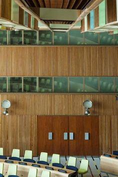United Nations Trusteeship Council Chamber // Finn Juhl (updated furniture: Salto & Sigsgaard)