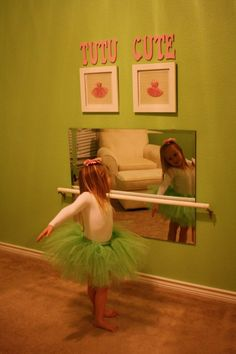 This would be so cute and easy for a little aspiring ballerina!