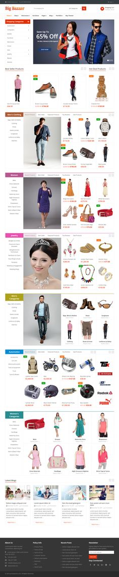 BigBazaar is Premium Responsive Retina #WordPress #eCommerce Theme. WooCommerce. Bootstrap 3. If you like this Theme visit our handpicked list of best #VisualComposer Themes at: http://www.responsivemiracle.com/best-visual-composer-templates-wordpress/