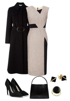 """""""Dark office"""" by bella0678 on Polyvore featuring Ted Baker, CHARLES & KEITH, STELLA McCARTNEY, Roland Mouret, Madyha Farooqui and Effy Jewelry"""
