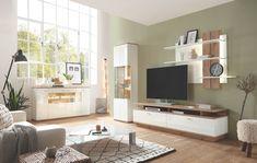 Sie passt sich mit ihrer tief gezogenen Front und den Kontrastreichen Absetzungen in Balken eiche-Dekor jedem Raum perfekt an.  #moebelpunktthalau#moebelhaus#wohnzimmer#wohnwand#moebel#interior###wohnidee#wohnen##living#einrichten#einrichtung#design#zuhause#dekoration#deko#livingroom#meinwohlfühlort#komfortwohnen#homesweethome#inneneinrichtung#einrichtung#zeigthereurewohnung##interiordesign#design#livingroom#decor#home#decoration#style#luxury#inspiration#love#modern#homedesign Interiordesign, Flat Screen, Inspiration, Home Deco, Oak Tree, Interior, Living Room, Blood Plasma, Biblical Inspiration