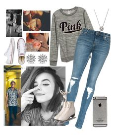 """""""Out to eat then ice skating with Babe -Cacia"""" by lovestruck-1d-5sos ❤ liked on Polyvore featuring mode, Forever 21, Kenneth Jay Lane, Converse, women's clothing, women, female, woman, misses et juniors"""