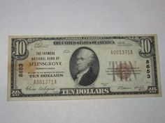 $10 1929 Selinsgrove Pennsylvania PA National Currency Bank Note Bill #8653 VF++  http://www.collectiblenotes.com/10-1929-selinsgrove-pennsylvania-pa-national-currency-bank-note-bill-8653-vf/
