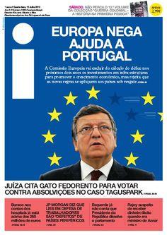 Há peixe no mar ! - Capa do Jornal i de 10 de Julho