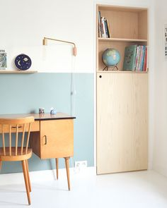 Archi chambre enfant renovation Heju 9 The Best of home interior in - Home Decoration - Interior Design Ideas Half Painted Walls, Half Walls, Svalnäs Ikea, Kid Spaces, My New Room, Modern Interior Design, Interiores Design, Interior Inspiration, Workspace Inspiration