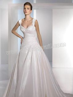 A-Line Shirt And Sweetheart Neckline Nuptial Gown For Classical Taste