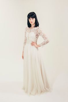 Pearl wedding gown by eandw on Etsy