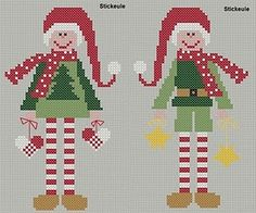 Freebie cross stitch elves#Repin By:Pinterest++ for iPad#                                                                                                                                                                                 Mehr