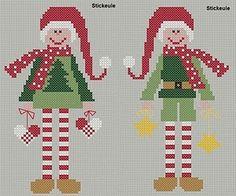 Freebie cross stitch elves