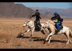 Mongolian horse racing