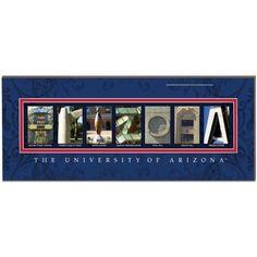 Ncaa Arizona Wildcats Letter Art, Multicolor