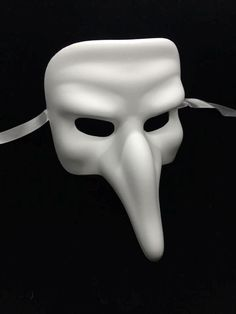 """Blank Eye Masks To Decorate This Plain White Zanni Costume Mask Is About 7"""" Wide And 10"""" Tall"""
