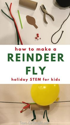 Make reindeer fly with this fun Christmas STEM activity! This holiday science project is perfect for preschoolers, kindergarten, and up. Even adults will love the challenge. This easy holiday science fun will become a family tradition. Christmas Activities For Kids, Preschool Christmas, Reindeer Christmas, Christmas Projects For Kids, Christmas Poster, Christmas Holidays, Preschool Science, Science For Kids, Science Fun
