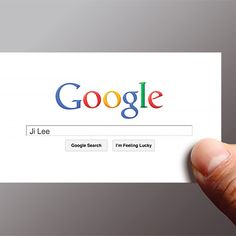 Google search business card - simple, like it