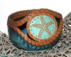 Pine Needle Baskets Mixed Media - Starfish Pine Needle Pottery by Lisa Sowers