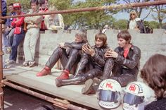 Jigsaw Puzzle-The Honda Black Protest Team; 1981 Classic TT-Jigsaw Puzzle made in the USA The Older I Get, Isle Of Man, Road Racing, Formula One, First World, Black Men, Harley Davidson, Honda, Classic