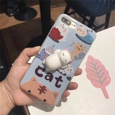 There's an adorable and squishy cat lying on this essential accessory piece. Captivating the lazy and sleepy side to our feline friends, this phone case is sure to put a smile on your face and help to relieve stress by touching squishy kitty belly. Available for iPhone 6/6S/6 Plus/6S Plus/7/7 Plus, this case will always be guarded by your loyal and lovely kitty. FREE WORLDWIDE SHIPPING Extremely high demand: Shipping takes 2-4 weeks for US and 2-6 weeks for inter...