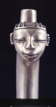 ) or Musical Instrument(?) 500 BC - 600 AD Early Quimbaya (Source: The British Museum) Spear Thrower, Human Head, Easter Island, Lost Wax Casting, British Museum, Ancient Art, African Art, Ceramic Art, Archaeology