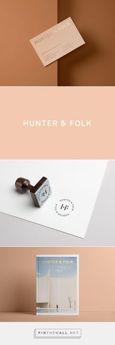 Hunter & Folk business card & website design— Cristie Stevens