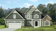 Home Plan HOMEPW77421 - 1740 Square Foot, 3 Bedroom 2 Bathroom Traditional Home with 2 Garage Bays | Homeplans.com
