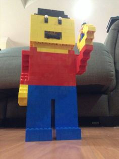 LEGO giant look alike by Rachel