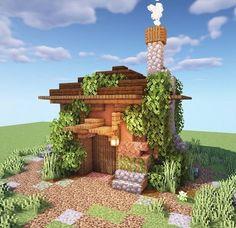 Minecraft Starter House, Minecraft House Plans, Easy Minecraft Houses, Minecraft Room, Amazing Minecraft, Minecraft Blueprints, Minecraft Crafts, Minecraft Buildings, Minecraft Furniture