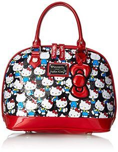 7029cef653 Hello Kitty Domed Satchel Top Handle Bag Multi One Size     You can find